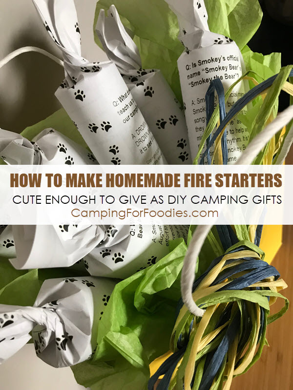 how to make fire starters for camping