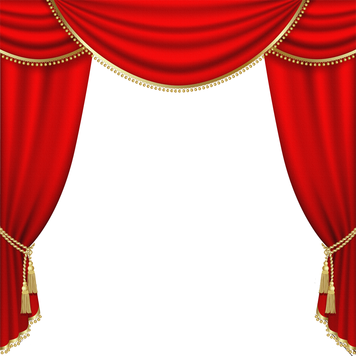 Red Theater Curtains Png Clip Art
