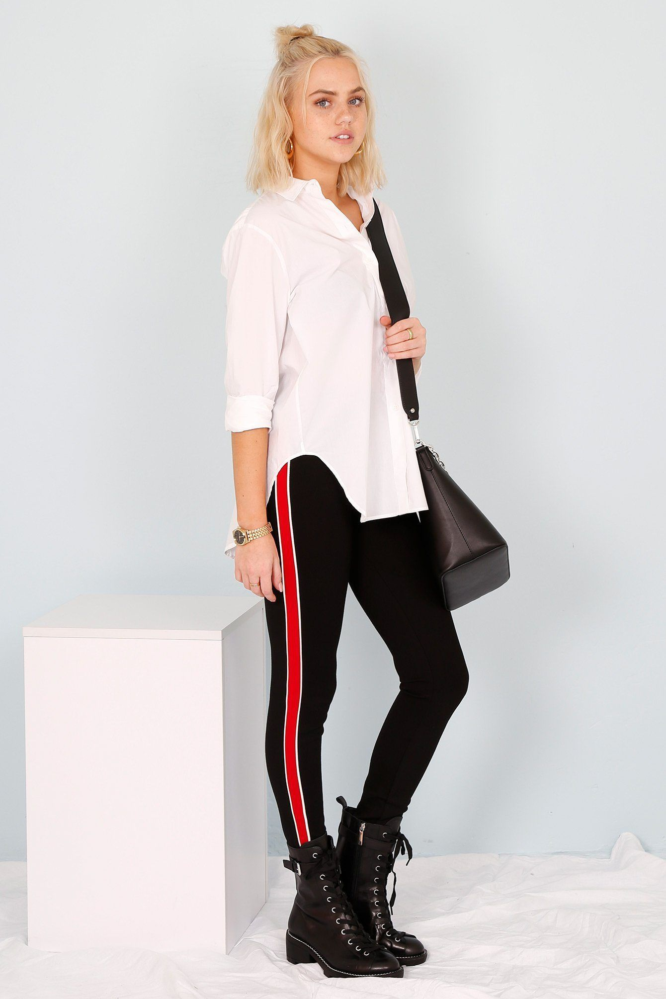 7f08f90bc3457 Can't Change My Stripe Pant - Black + Red | My style | Black ...