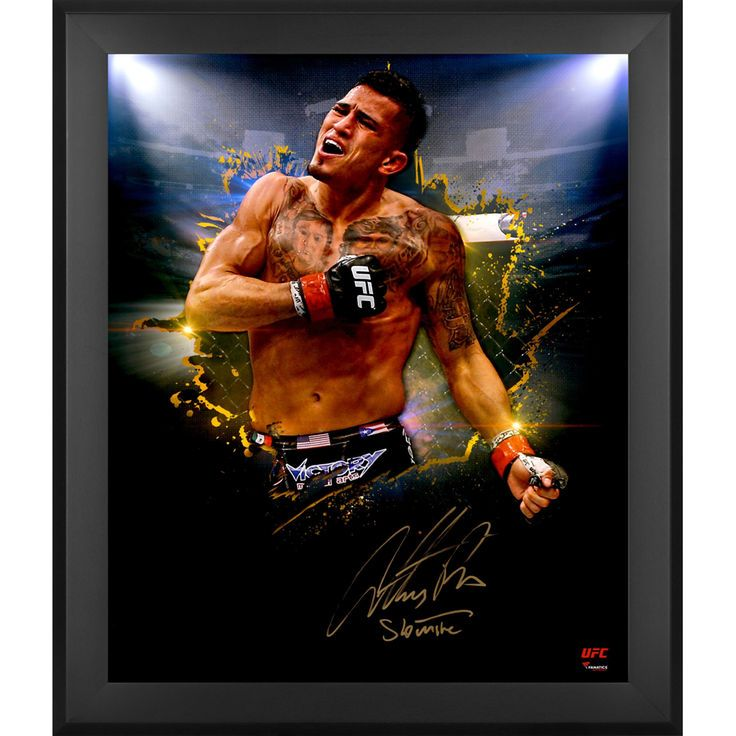 Anthony Pettis Ultimate Fighting Championship Fanatics Authentic Framed Autographed 20'' x 24'' In Focus Photograph with Showtime Inscription - #2-23 of a Limited Edition of 24 - $119.99