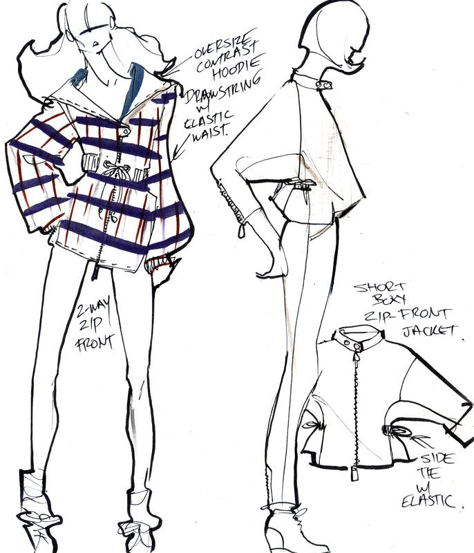 FASHION Design Croquis sketches Jackets! more at ...