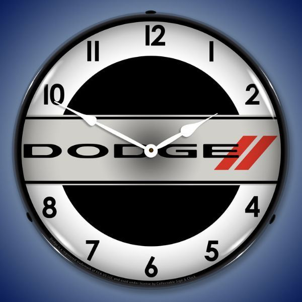 Dodge Logo LED Lighted Wall Clock 14 x 14 Inches in 2019