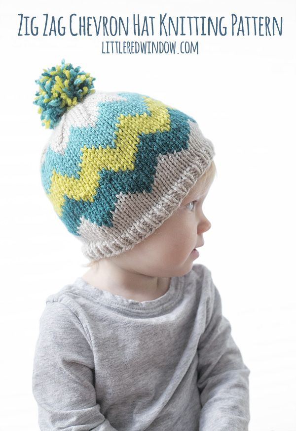 Fair Isle Zig Zag Chevron Hat Knitting Pattern | Fair isle knitting ...