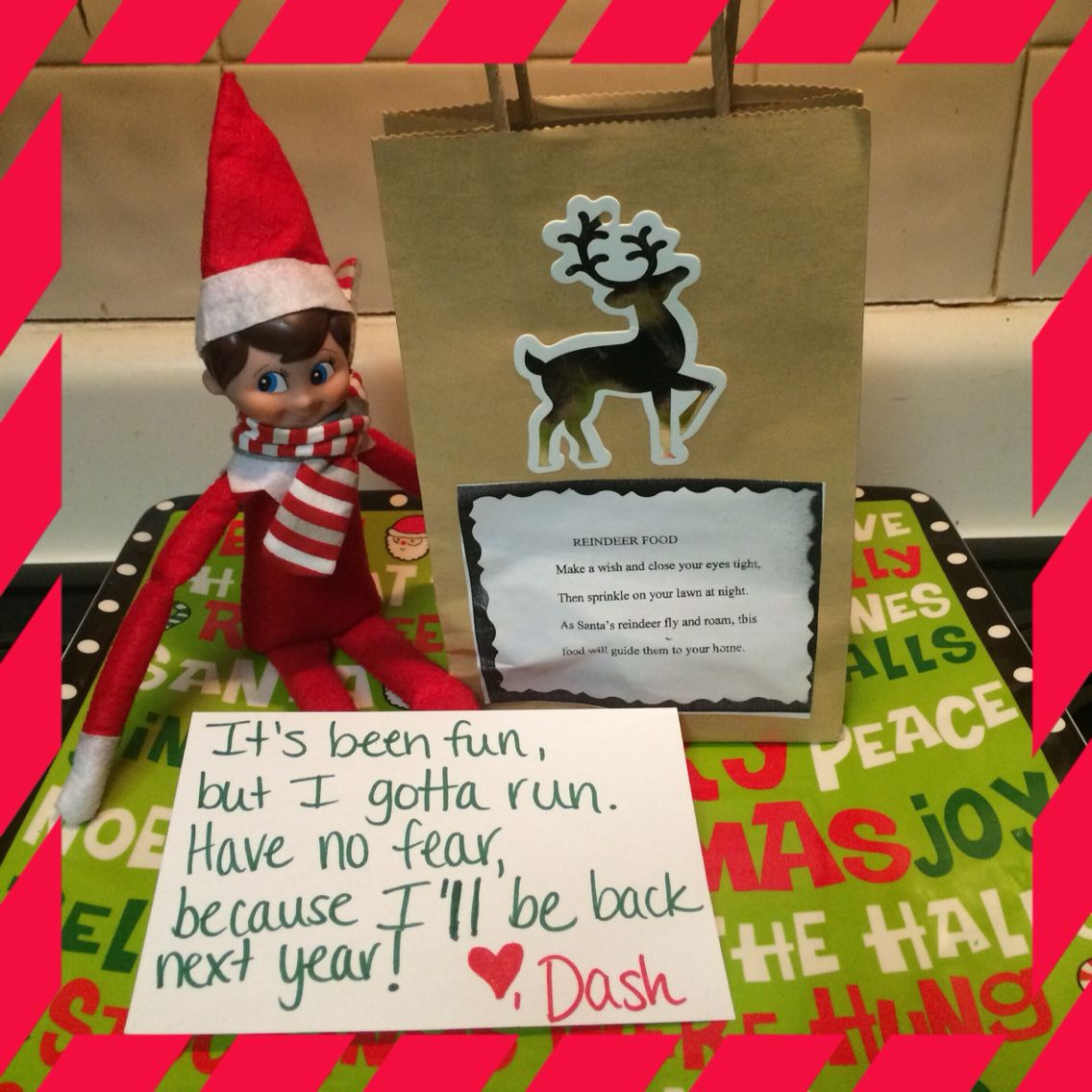 Elf on the shelf ideas. On the last day before the elf heads