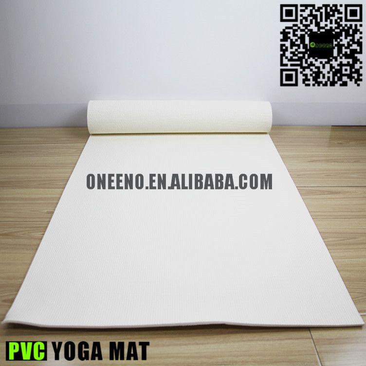 volledige band drager pvc yoga mat witte kleur