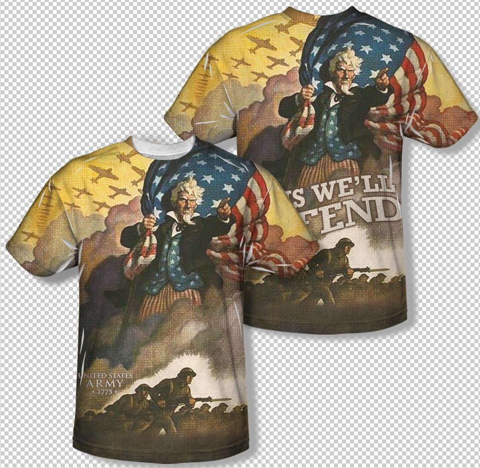 New United States Army Vintage Uncle Sam All Over