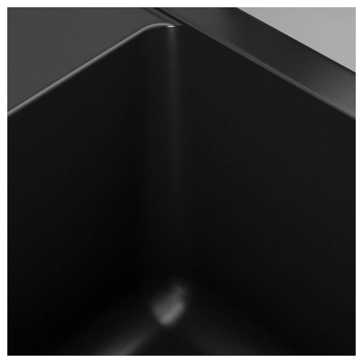 Hallviken Einbauspule 1 Becken Schwarz Quarzkomposit Einbauspule Ikea Und Reinigungsmittel