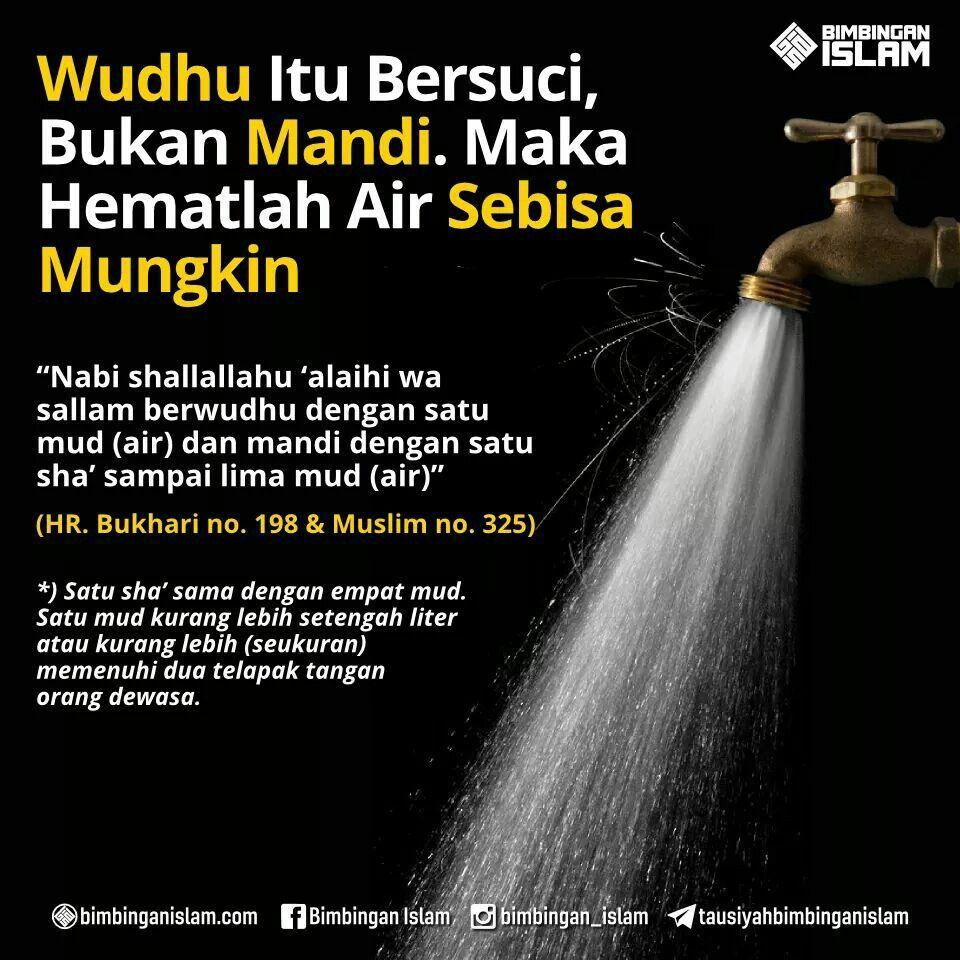 Wudhu hemat air | Islam, Hikmat, Kekuatan doa
