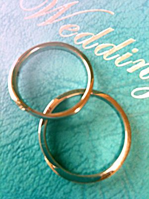 Wedding rings and letters of invitation Marriage ceremony - invitation letters