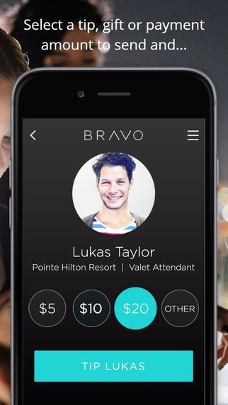 Bravo - Tip or Pay, The Cashless Way by Bravo, LLC | Fintech