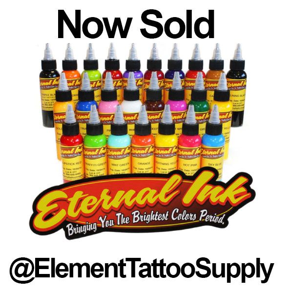 Eternal Tattoo Inks Now Sold At Element Tattoo Supply Elements Tattoo Eternal Tattoo Ink Tattoo Supplies