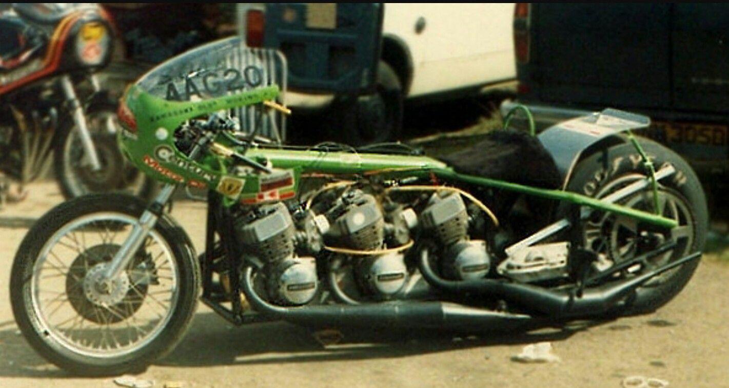 Triple Engined 750 Mach Iv Kawasaki Drag Bike Classic Japanese