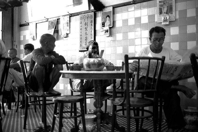 Customers Enjoying Chinese Tea At A Traditional Coffee Shop Chinese Tea Singapore Coffee Shop