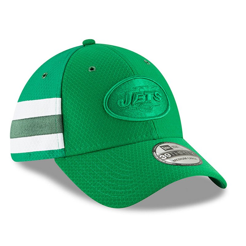 b23e163b New York Jets New Era 2018 NFL Sideline Color Rush Official 39THIRTY ...