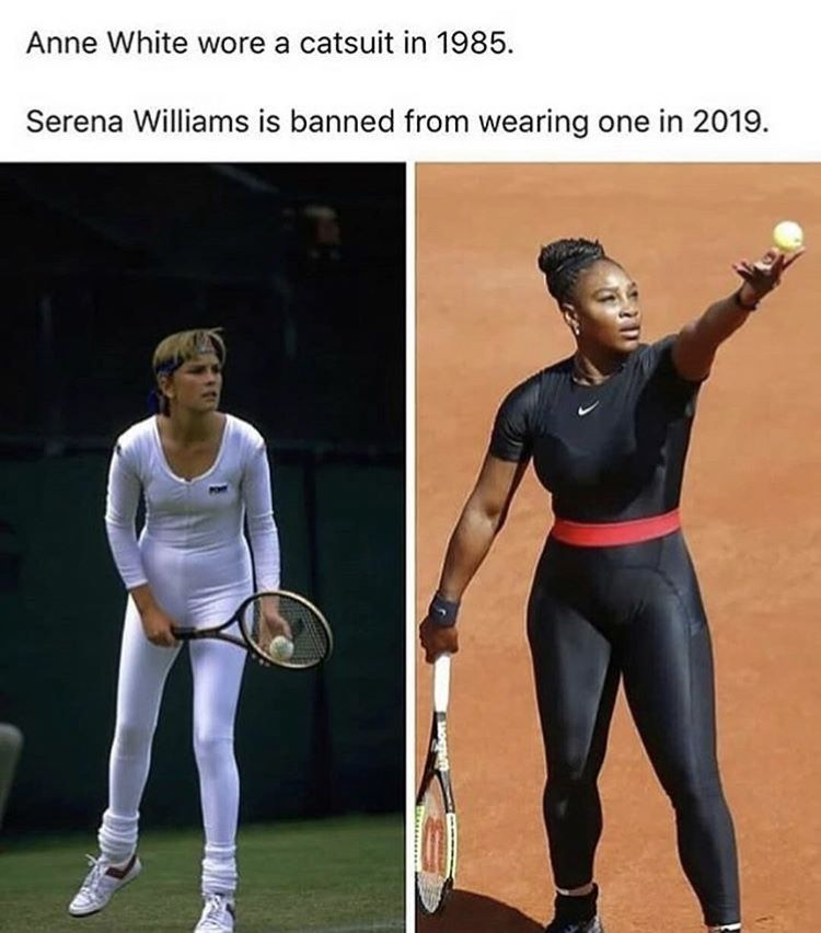 Not to mention that that suit was designed specifically to prevent blood clots, a health issue that has threatened Serena's life twice.