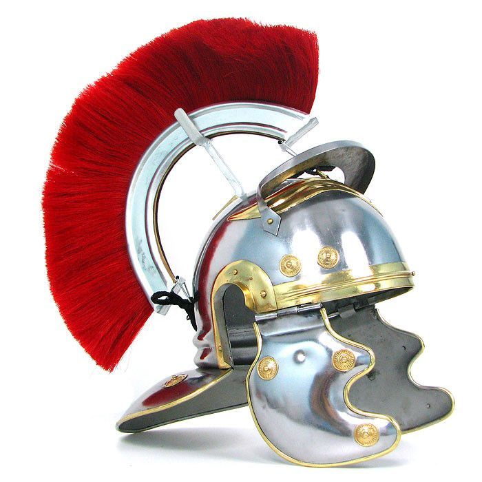 Trademark Commerce 22-9914 Crested Roman Officers Helmet