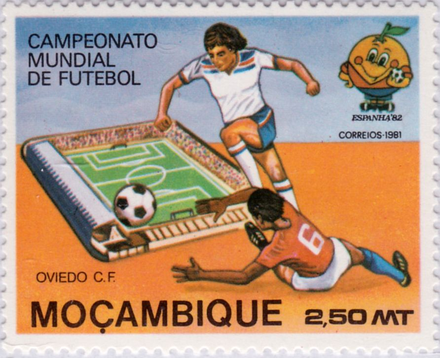 """Copa mundial de fútbol """"España 82"""" País Mozambique"""
