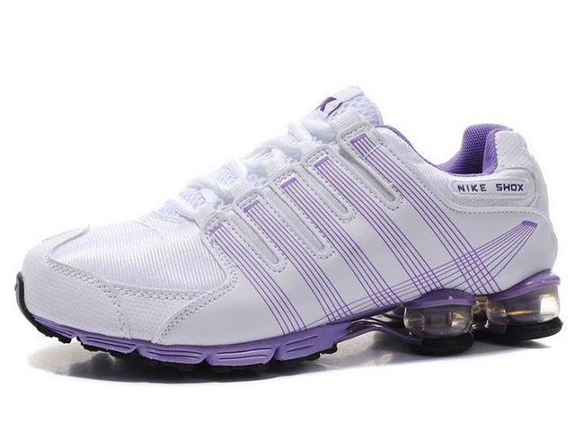 on sale 10a31 494d0 Chaussures Nike Shox R4 Blanc  Violet  nike 12244  - €49.89   Nike Chaussure