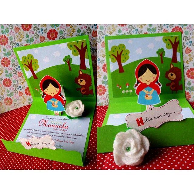 Habia una vez... tarjetas pop up de invitacion para la fiesta de Manuela :)…