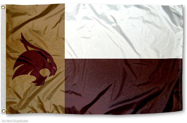 Texas State Bobcats State Flag Texas State Bobcats Texas State University Texas State