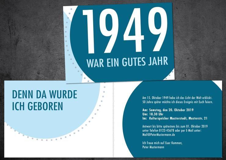 Einladung Zum 70 Geburtstag 1949 War Ein Gutes Jahr Edle