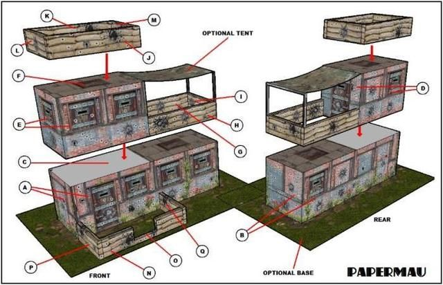 Here is the Bunker paper model, ready to download! This