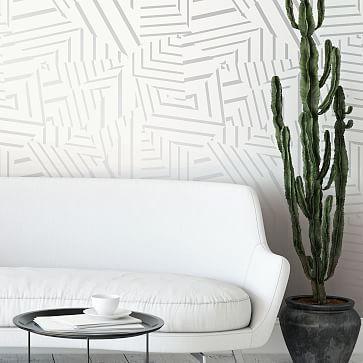 Bobby Berk For Tempaper Dazzle Removable Wallpaper In 2020 Removable Wallpaper Living Room Wall Room