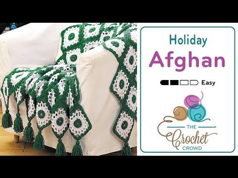 How to Crochet A Blanket: Holiday Afghan - YouTube