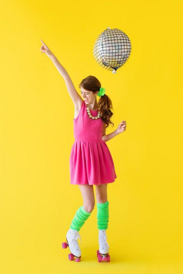 Crazy halloween costumes · DIY Roller Disco Costume - DIY Balloon Halloween Costumes Disco Costume, Roller Disco And