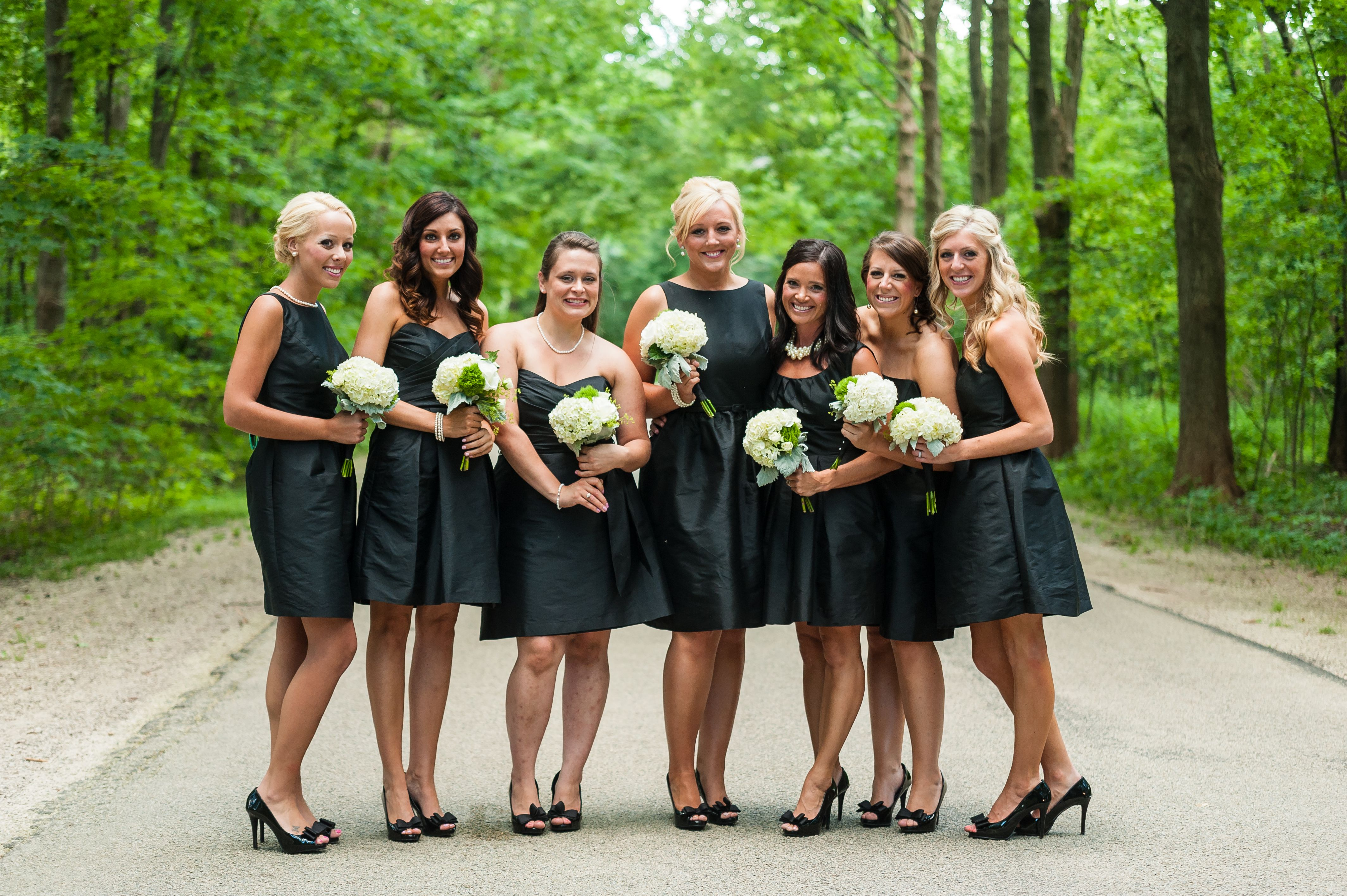 Classy black bridesmaid dresses by alfred sung and matching classy black bridesmaid dresses by alfred sung and matching bridesmaid shoes ombrellifo Images