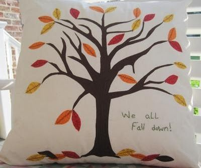 We all fall down pillow