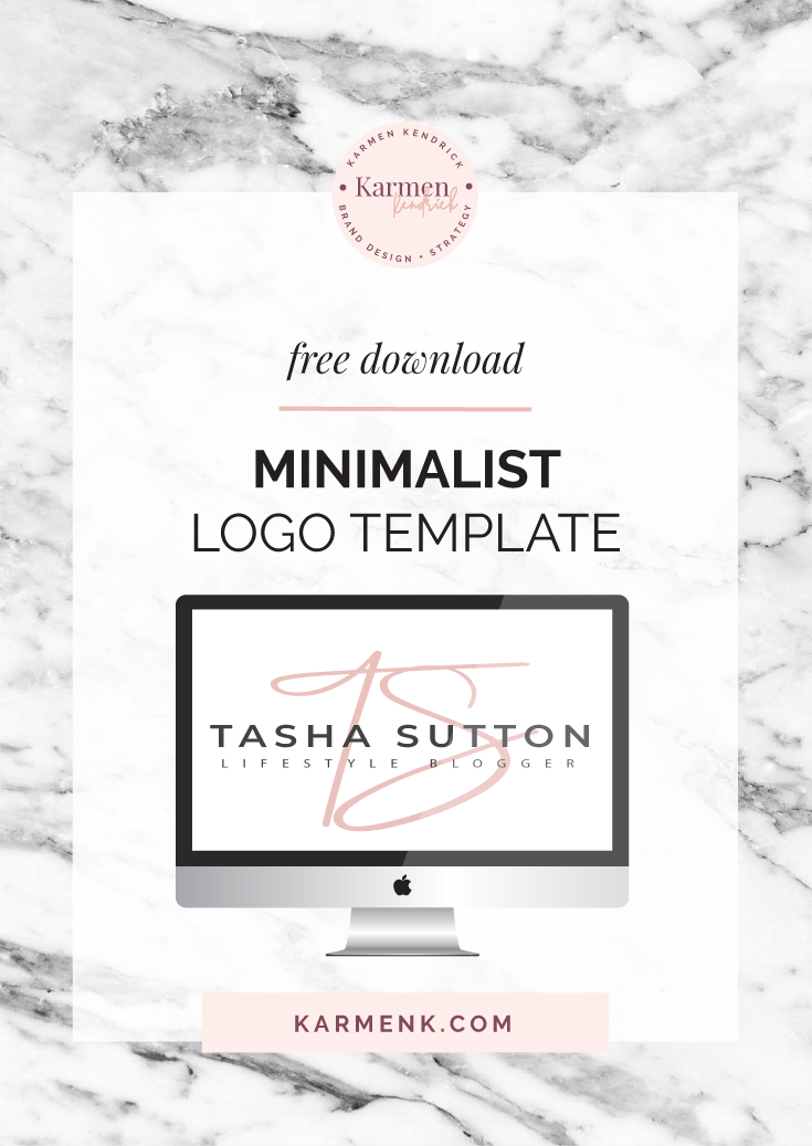 Need a logo for your brand? Grab this free logo template