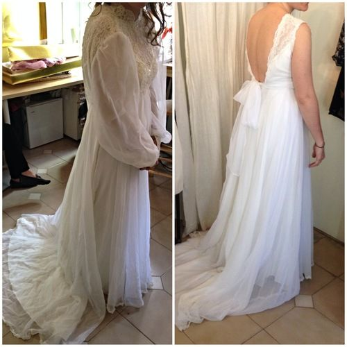 Portfolio After Wedding Dress Dress Makeover Wedding Dress Alterations