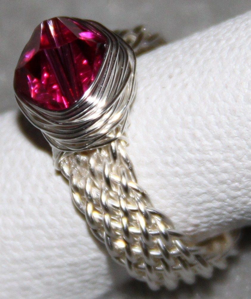 Wire Jewelry Free Patterns | woven ring shank with bi cone wrap ...