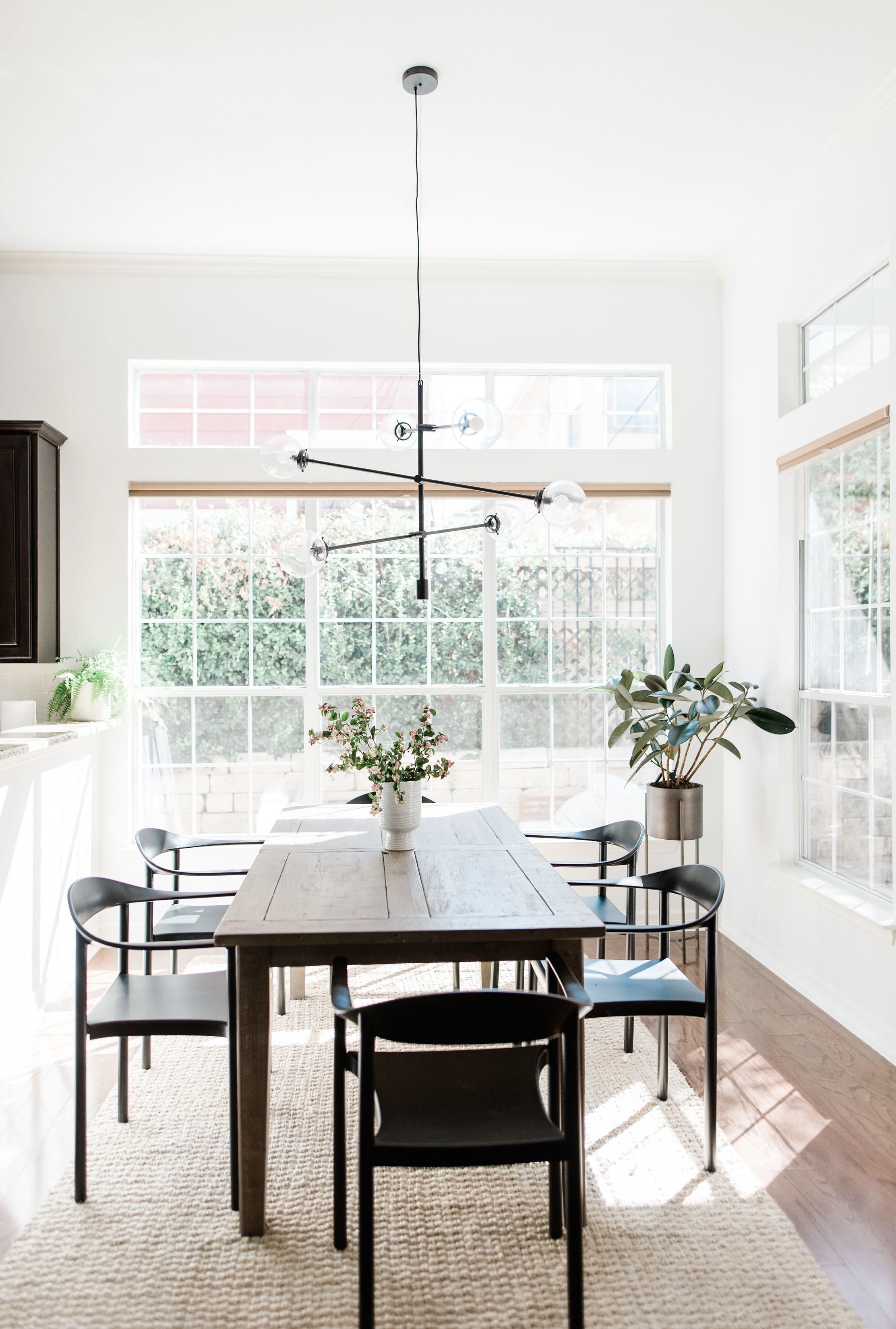 Light and bright dining room extra large windows inspiration modern home decor also step inside an austin that pairs cozy neutrals with loads of rh pinterest