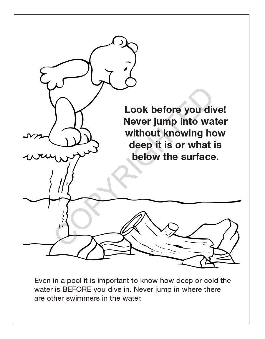 Pool Safety Kid S Coloring And Activity Book In Bulk 25 Pack Would Like To Know Much More Click Th Book Activities Kids Coloring Books Coloring For Kids