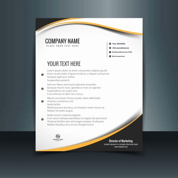 Letterhead Templates Freepik Wavy Letterhead Template Vector Free Download Kop Surat Brosur Desain