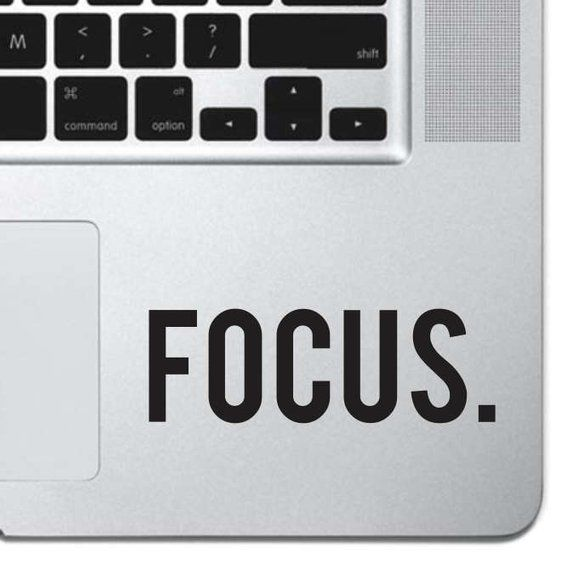 Focus Sticker Decal MacBook Pro Air 13 15 17 | Etsy
