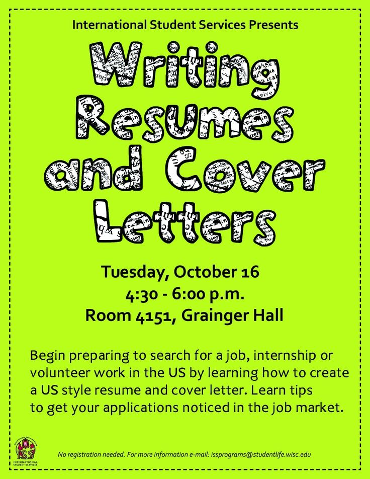 Writing Resumes \ Cover Letters Oct 6, 2012 430-6 pm Resume - writing resumes