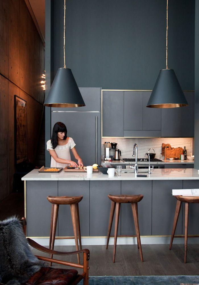 İnsanı Durduğu Yerde Çatlatan 22 Tasarım Mutfak #greykitchendesigns