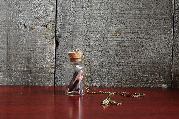 Pocky Sticks and Chocolate Bottle Necklace by DirtBloks on Etsy