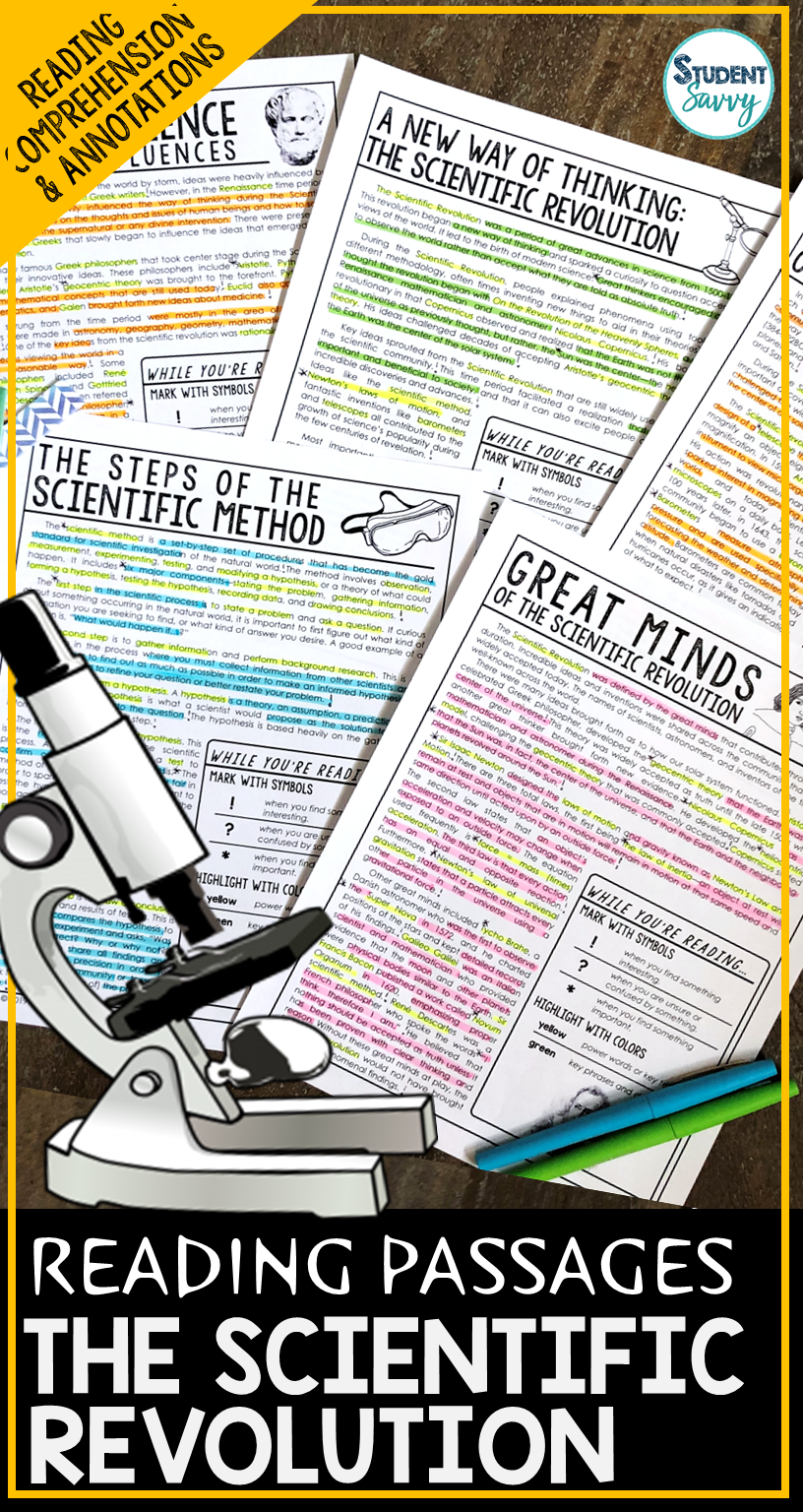The Scientific Revolution Worksheets Reading Comprehension Passages Questions And An Scientific Revolution Reading Passages Reading Comprehension Questions [ 1536 x 816 Pixel ]