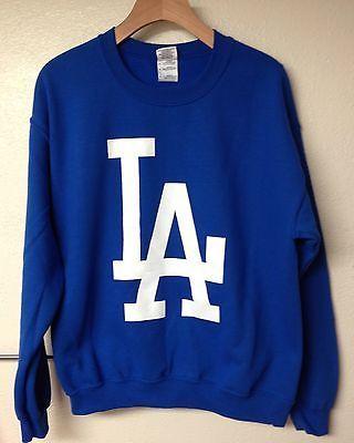 Los Angeles Dodgers LA logo Sweater - Crewneck - Sweatshirt Blue ...