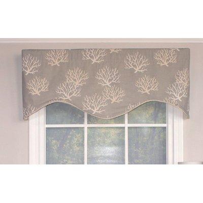 Rlf Home Sea Coral Cornice 50 Kitchen Curtain Valances For