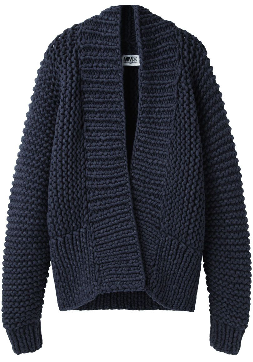 MM6 by Maison Martin Margiela Chunky Hand-Knit Cardigan | La ...