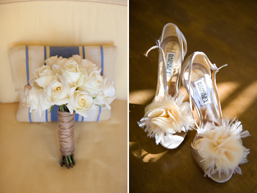 Wrap your bouquet with twine for a great rustic look!