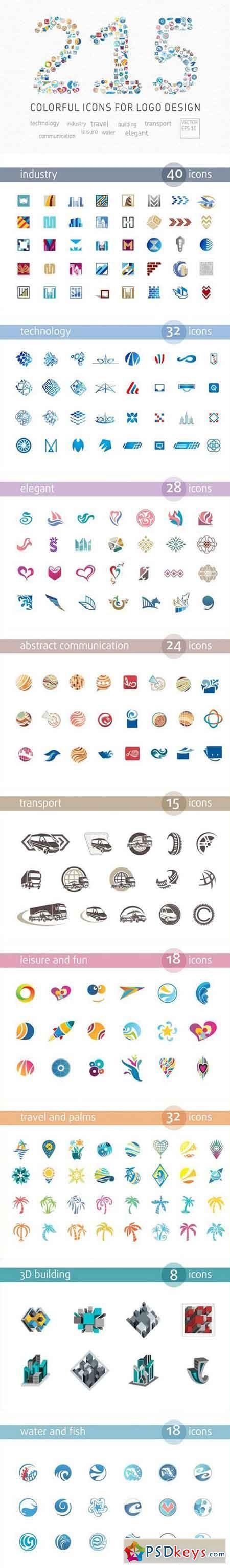 Vector Icons for Logo Design 2278656 | psd keys | Vector