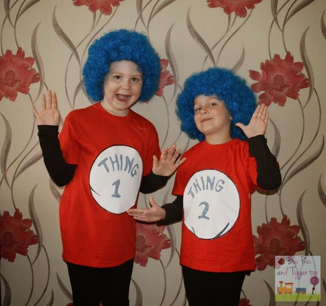 Simple easy world book day idea dr seuss thing 1 and thing 2 diy simple easy world book day idea dr seuss thing 1 and thing 2 diy homemade costume for world book day at school simple fancy dress ideas for twins or solutioingenieria Images