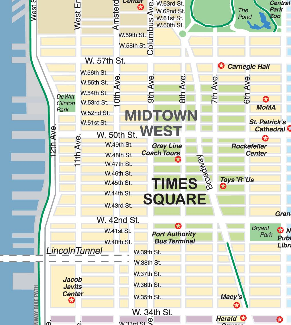 midtown stores map new york city maps and neighborhood guide city guide magazine