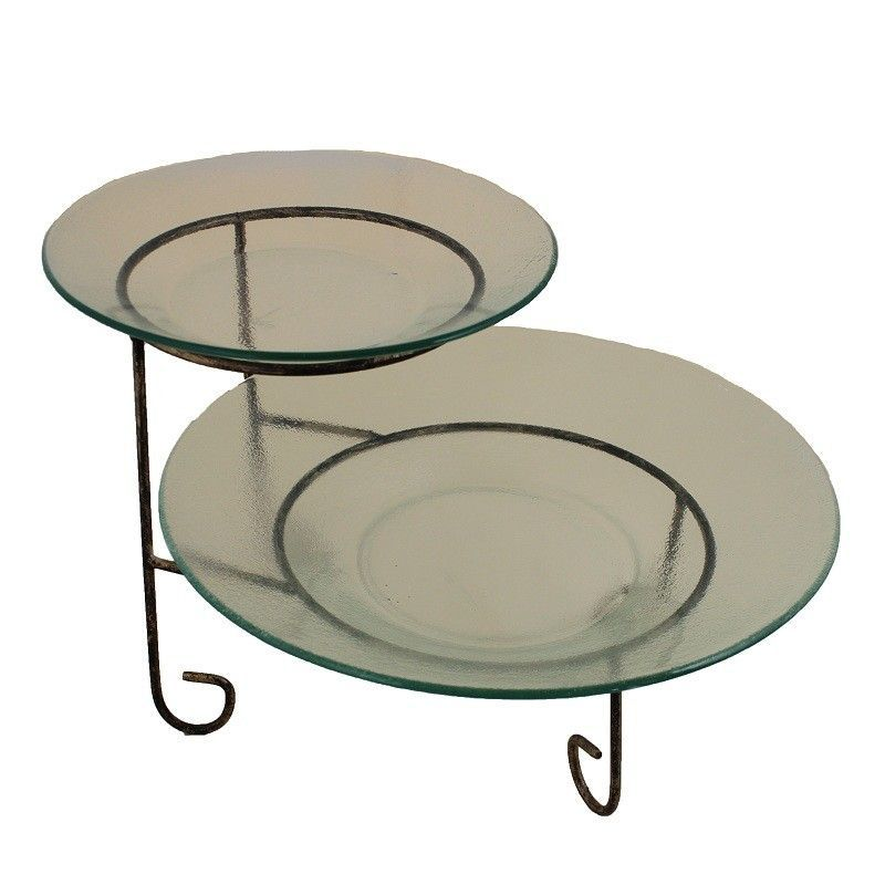 2 tier round serving tray tiered stand이미지 포함